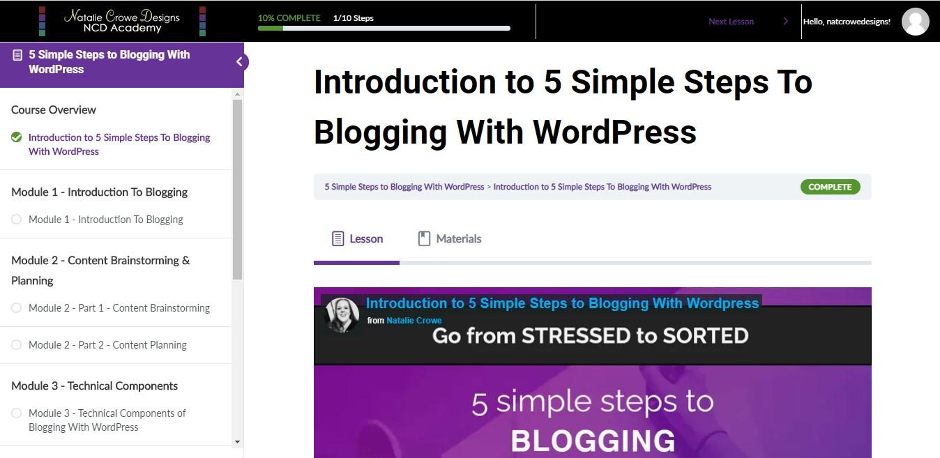 Beginners WordPress Blogging ecourse.  WordPress blogging course for beginners | Web Design Hunter Valley