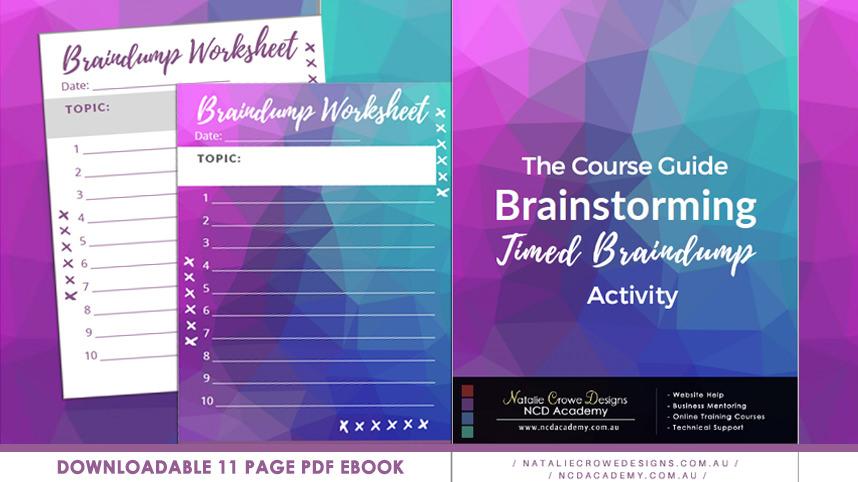 NCD Academy - Braindump Activity