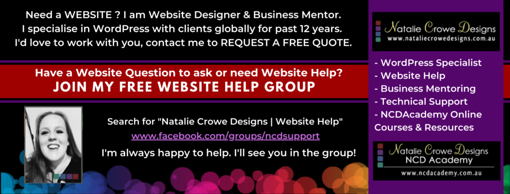 Natalie Crowe Designs - Website Designer, Business Mentor, Intuitive & Tech Guide at the NCDAcademy