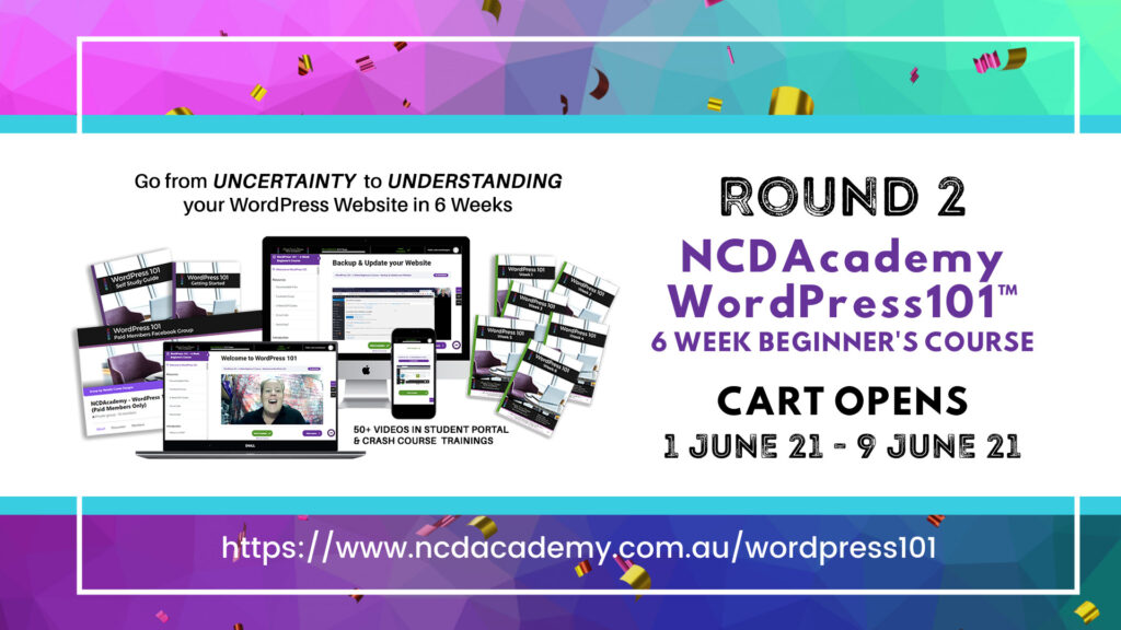 Round 2 - NCDAcademy WordPress101 Course Launch