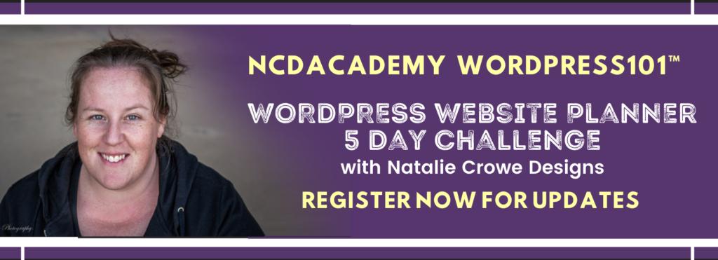 WordPress Website Planner 5 Day Challenge